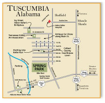 Map of Tuscumbia